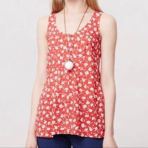 Anthropologie Sleeveless Floral Tank by Maeve